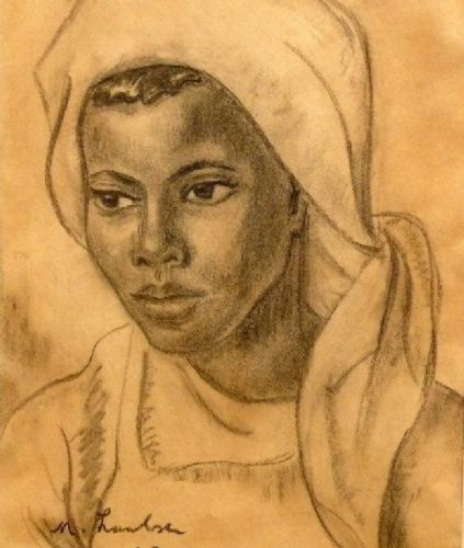 Maria Magdalena Laubser, known as Maggie Laubser Country: Republic of South Africa Style: Portraiture/ Realism/ Figurative/ Expressionism Me...