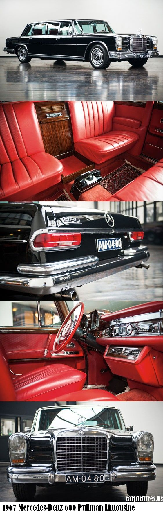 1967 Mercedes-Benz 600 Pullman Limousine -- drove one of these once: amazing.