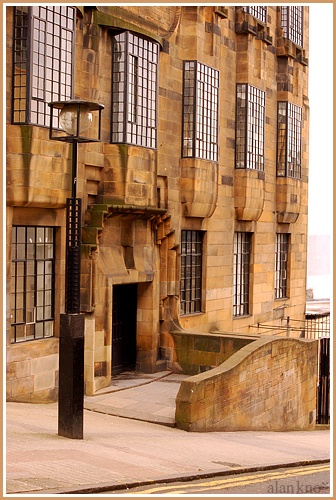 Glasgow. Charles Rennie Macintosh's School of Art. 30 miles from here.