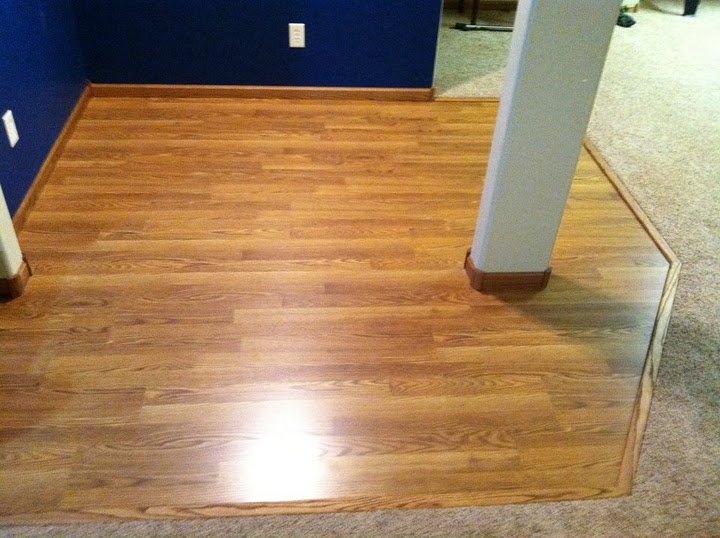 Nice Way To Transition B W Carpet And Wood Floor In Living Room Dining Area Using A Strip Of Along The