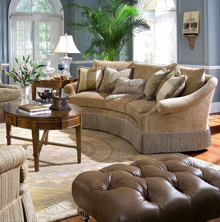 Highland House HH Upholstery Anastasia Wedge Sofa Discount Furniture At  Hickory Park Furniture Galleries