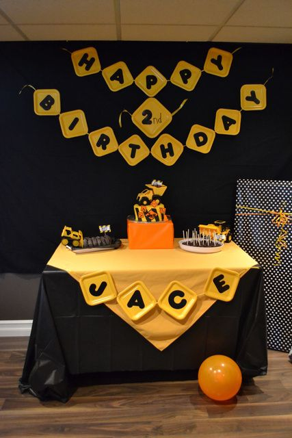 Cool construction birthday party! See more party ideas at CatchMyParty.com!