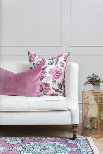 rose velvet pillow | Caitlin Wilson