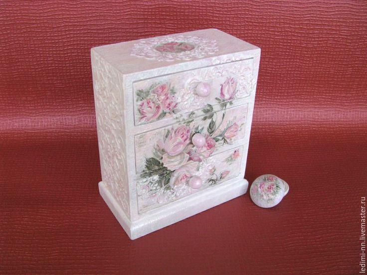 Купить Комод Розовый и нежный мини - бледно-розовый, комод, мини комод, маленький комод