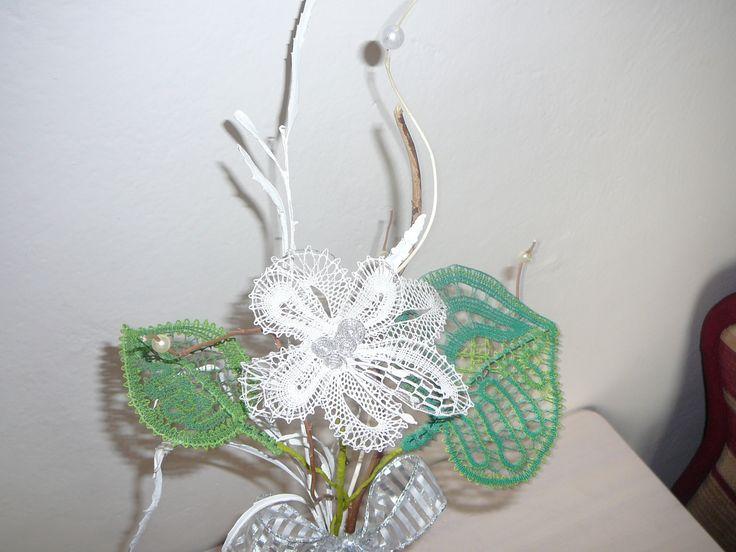 Paličkovaná kytice - detail