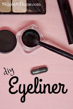 Looking for an easy natural makeup DIY anyone can do? Give this homemade eyeliner a try and save money on natural makeup you will love.