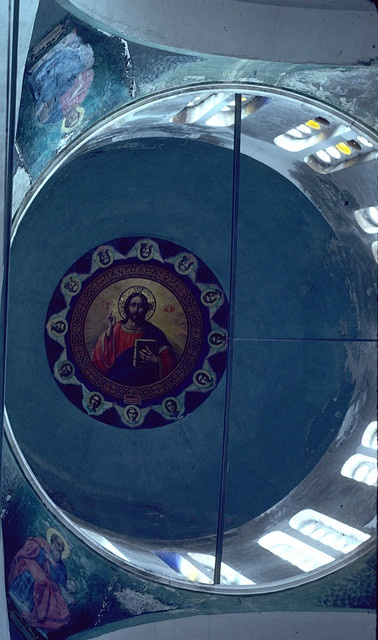 Dome of Greek Orthodox Church on Ikaria Greece by Ray Cunningham, via Flickr