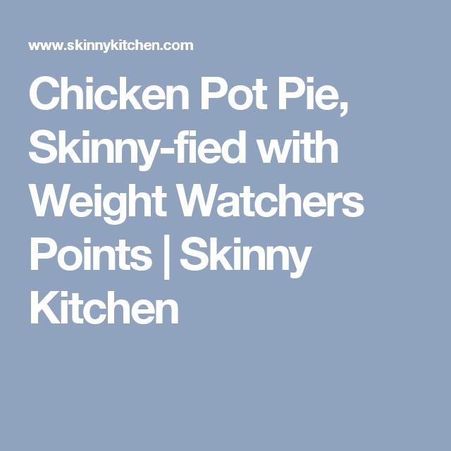 Chicken Pot Pie, Skinny-fied with Weight Watchers Points | Skinny Kitchen