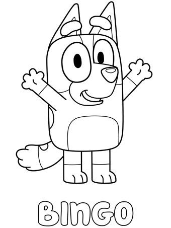 pin on bluey colouring pages