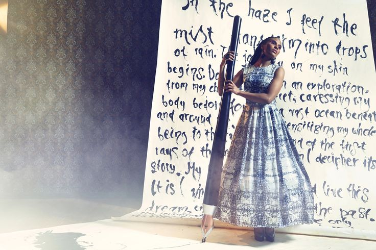 Falala dress. Silk. Photographer Nana Simelius Model Yacine Samb, Muah Kata Niemi Make Up and Hair