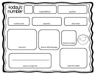 Great number of the day idea on http://ilove2teach.blogspot.com/2012/01/todays-number-freebie.html