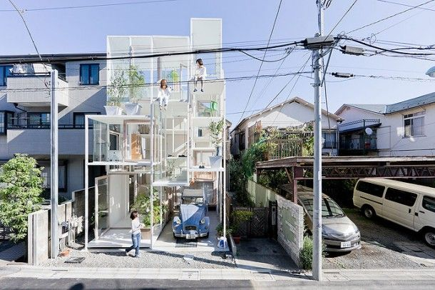 Modern minimalistic house in Tokyo: Unusual Home, Architects, Trees Houses, Tokyo Japan, Amazing Houses, Japan Architecture, Sou Fujimoto, Houses Projects, Glasses Houses