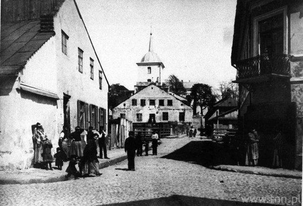 Lublin, Nadstawna and Ruska streets in Podzamzce neighborhood, 1930's.