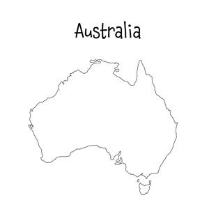 Unforgettable image in printable australia map