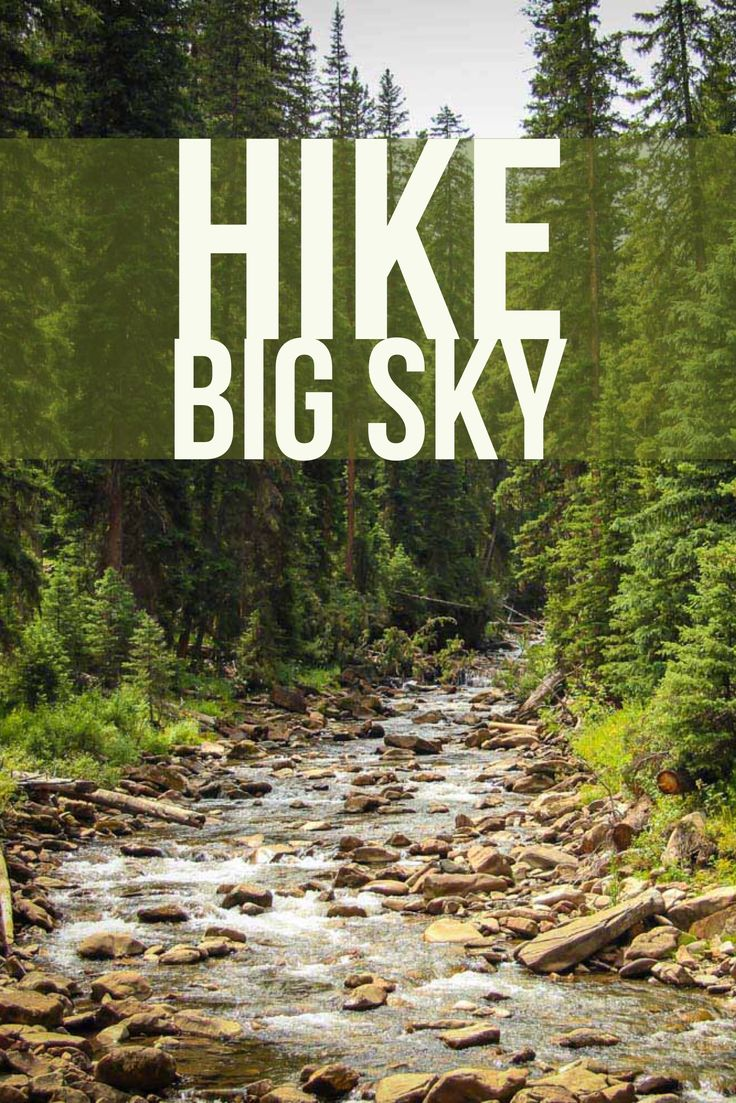 Great family friendly hike in Big Sky, Montana