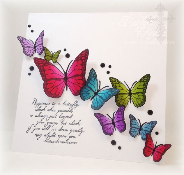 SC445 Bright Butterflies by bfinlay - Cards and Paper Crafts at Splitcoaststampers