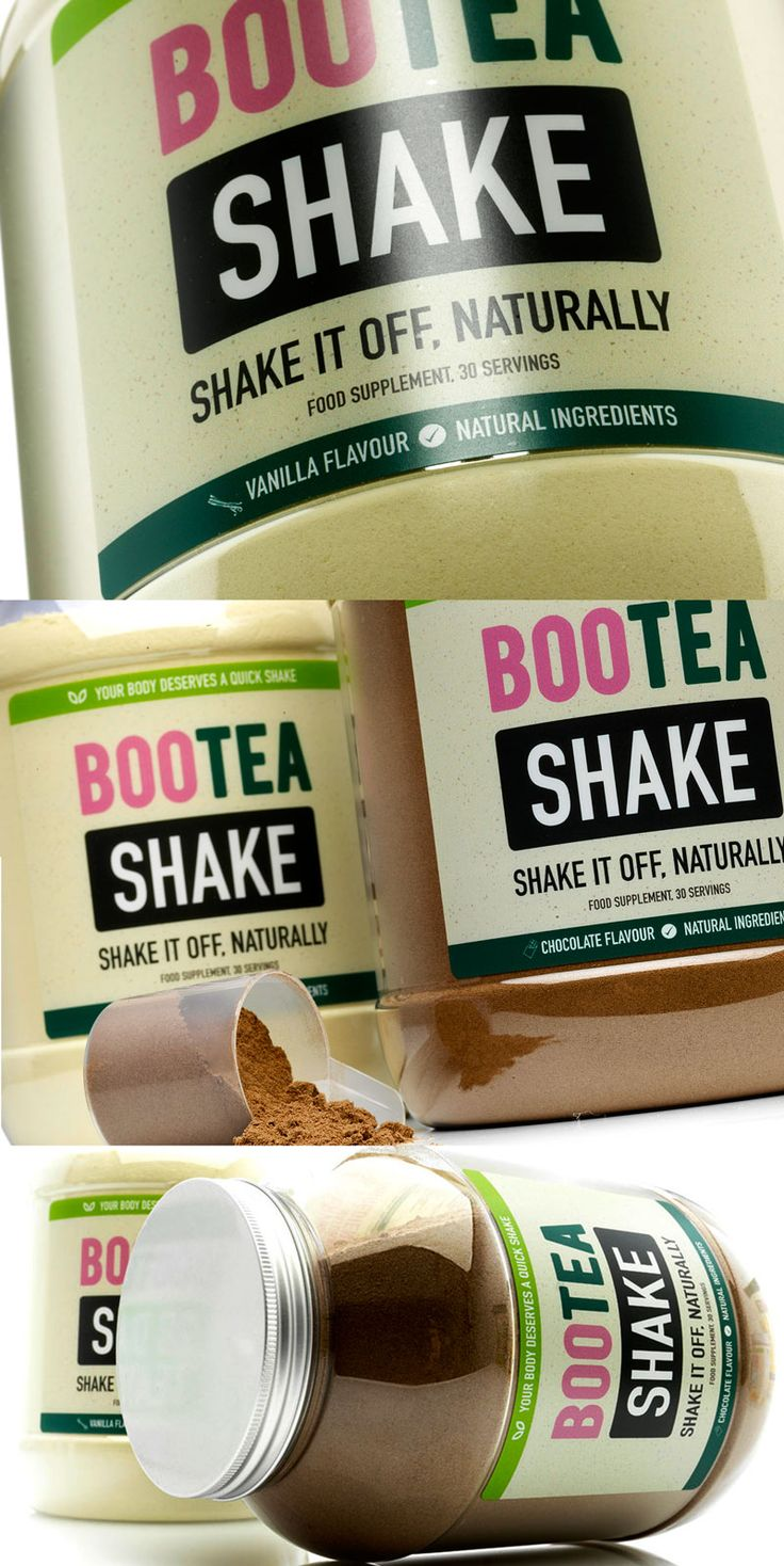 Shake it off, naturally. The all new Bootea Shake is low calorie, high protein & of course, natural.    Only 115 calories per shake, no sugar & low carb.  Contains our green tea extract.  High in protein to support muscles and bones.  Available in chocolate and vanilla flavours.