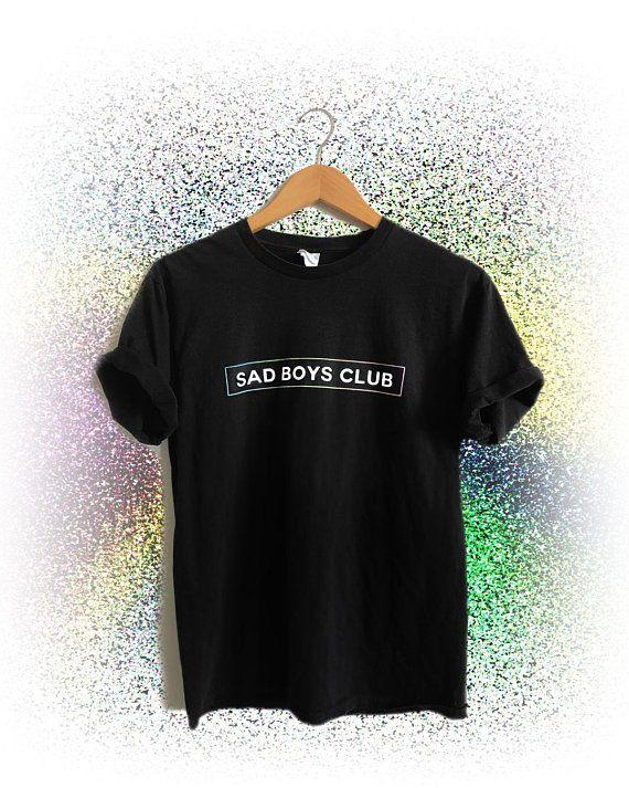 4f1300cc6a69 Sad Boys Club T-Shirt | Vaporwave Shirt, Pastel Goth Clothing, Soft Grunge,  Unisex Sadboys Club Aesthetic Clothing, Kawaii BTS Shirt in 2019 | Wishlist  ...