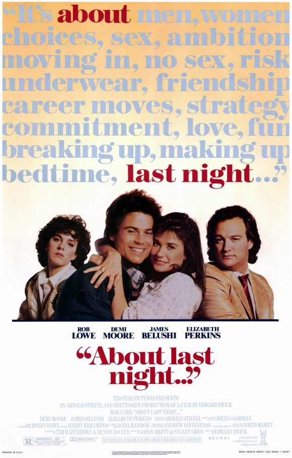 About Last Night 11x17 Movie Poster (1986)