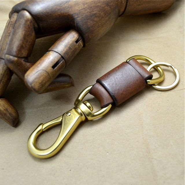 Leather Key Ring by Grey56 Leather.