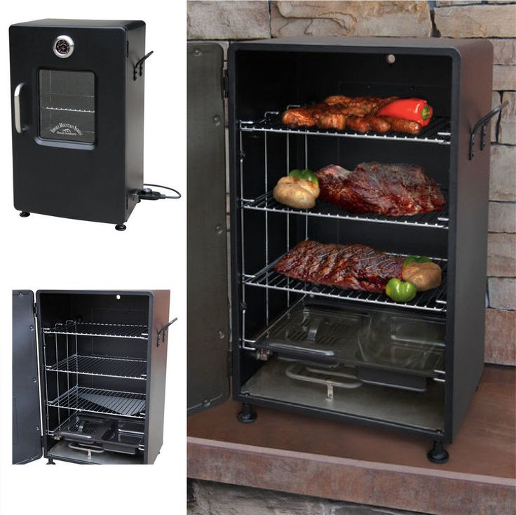 Electric BBQ Smoker Barbecue Grill Outdoor Portable Meat Cooker Digital Rack  #Landmann