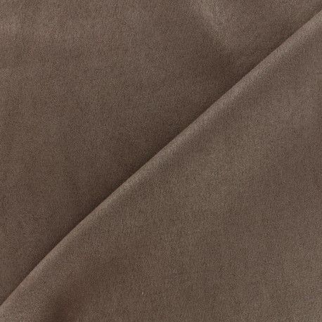 Tissu Suédine élasthanne Soft - marron x 10cm