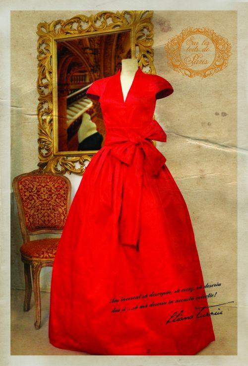 """Sur les toits de Paris, o ţinută adaptată descoperirii cu stil a """"oraşului luminilor"""" - colectie semnata Liliana Turoiu. In premiera pentru o agentie de turism, Perfect Tour paseste pe podiumul unei prezentari de moda exclusiviste, cu o tinuta initiatica si inspirationala pentru femeia contemporana, adaptata descoperirii cu stil a Parisului."""