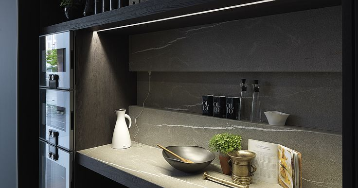 Modulnova Blade Unicore with Gaggenau appliances and Pietra Piasentina Stone