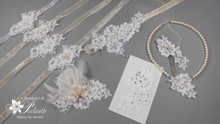 Bijoux mariage en dentelle de Calais - Bridal lace jewelry