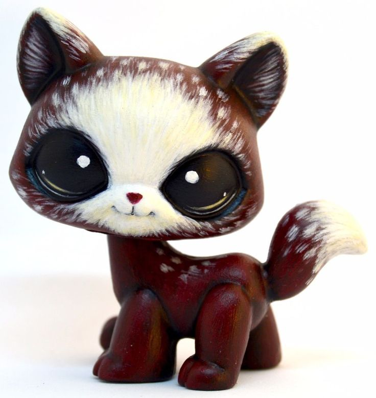 $59.99 Red Riding Hood Cat - OOAK LPS Custom by theleyline - Hand Painted Littlest Pet Shop Walking Short Hair Cat