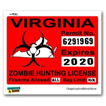 17 best images about zombie hunting permits on pinterest for Va fishing license