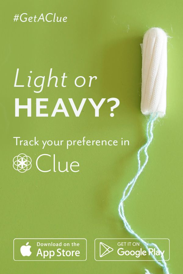 Know when your period is coming. Download Clue for free.