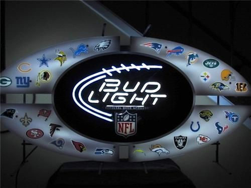 Bud Light All Star Nfl Neon Sign W All Team Logos For