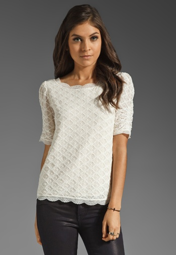 Deal Of The Week: Joie Lace Top. Reg $310; NOW $165 {47% Savings}. Email lesley@thestylehunter.com if you are intersted in purchasing.