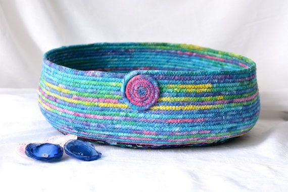 $80 #Blue #Cat #Bed #Handmade #Tropical #Blue Batik #Pet #bed #basket #dog #bed #ocean #blue by WexfordTreasures