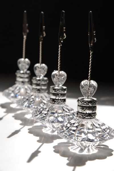 Odds and ends..     Crystal Place Card & Table Number Holders $14- Set of 4