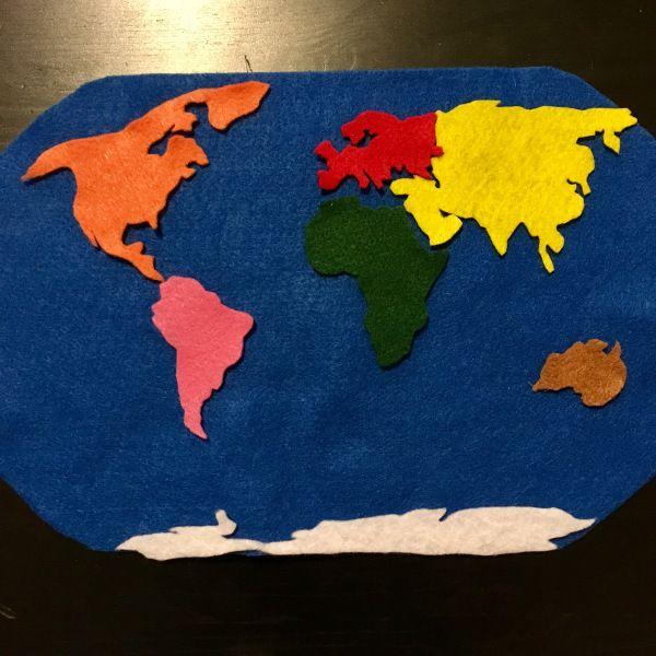 Montessori Continent Studies for Preschoolers — DIY Montessori Continent Felt Map