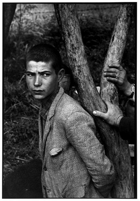 Constantine Manos. GREECE. Macedonia. 1964. Boy at a religious festival.