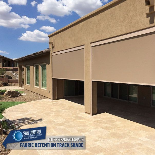 Motorized Fabric Retention Track System Exterior Retractable Patio ...