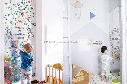 엄마표 자석칠판으로 아이방 꾸미기 + 해외인테리어 따라하기^^ : 네이버 블로그