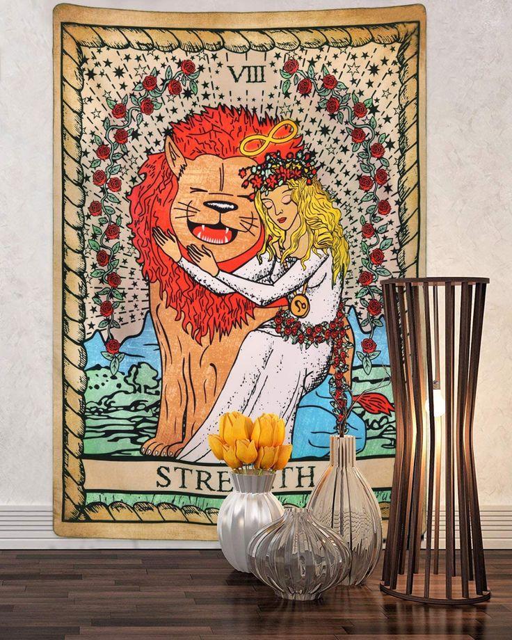 Tarot tapestry the strength tarot cards
