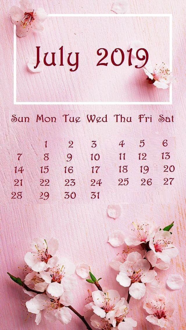 July 2019 Iphone Calendar Wallpaper Calendar Wallpaper Pink