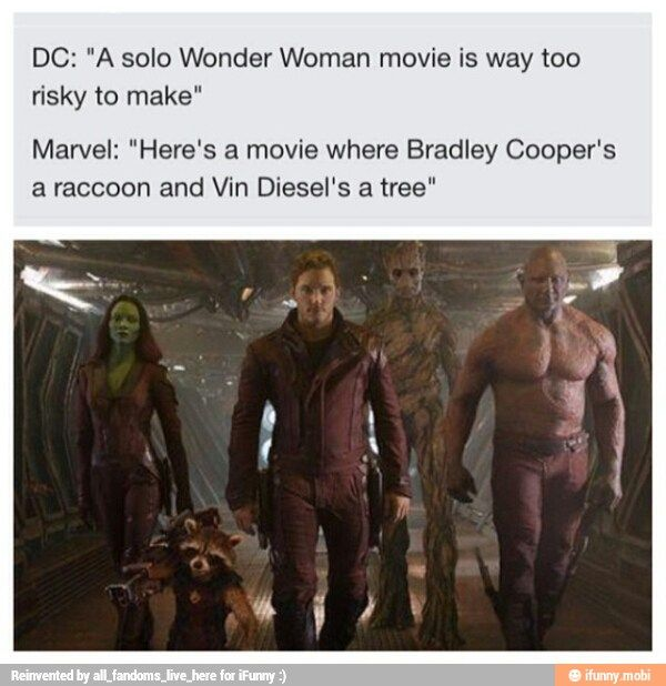 "The difference between DC and Marvel: DC's the one who wants to be seen as ""cool"" by everybody else, while Marvel fully accepts its nerdiness and makes films true to itself"