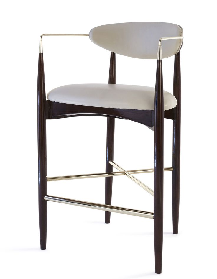 Leto Bar Stool  Contemporary, Transitional, Upholstery  Fabric, Armchair by Kimberly Denman
