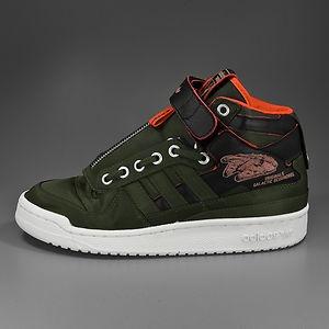 innovative design 8188f 8f362 ADIDAS Forum Mid Star Wars Han Solo olive orange black  starwars  adidas    Shoe - inspiration   Adidas, Sneaker boots, Sneakers