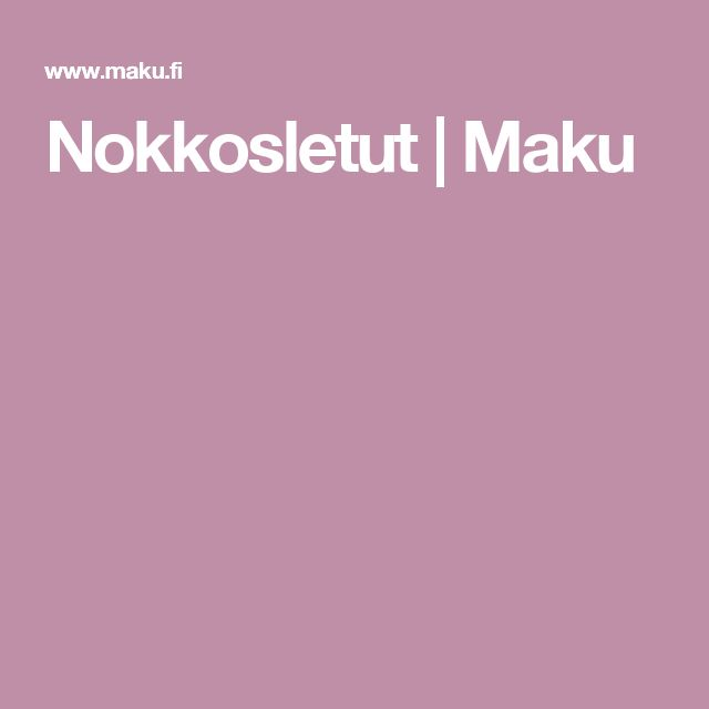 Nokkosletut | Maku