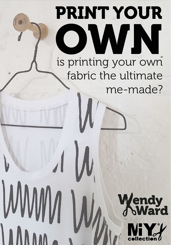 Simple ideas for printing your own fabric at home.