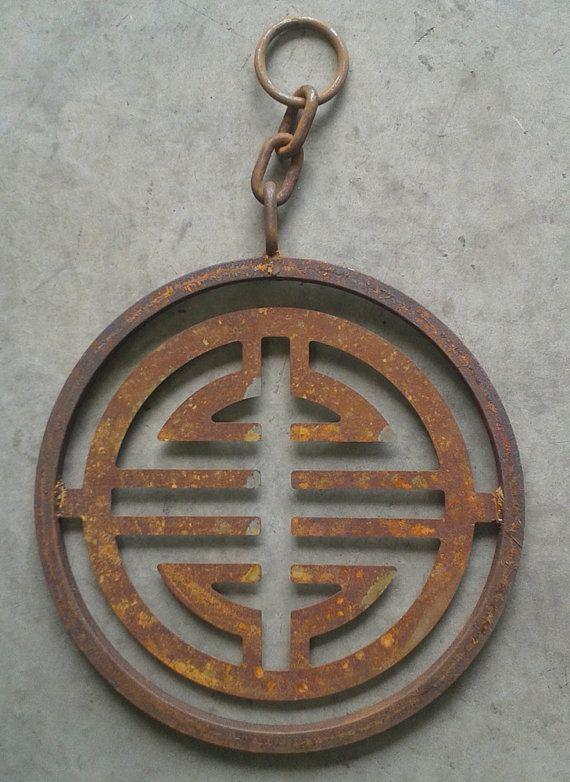 Metal Garden Art Tibetan Symbol Pendant FREE SHIPPING-Home