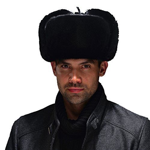 edccc5654c4e4 Brand URSFUR This classic Mink Fur and Leather Russian Ushanka hat is made  with first quality ranch raised full Mink skins. Our Russian Ushanka hat  features ...
