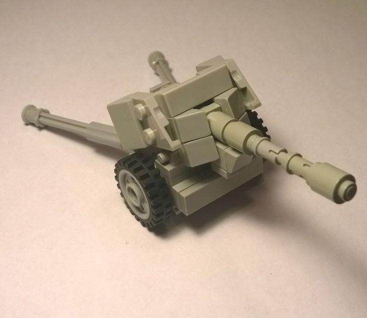 LEGO WW2 Pak 40 German Cannon Artillery Gun 75mm 7.5 cm Custom Military Set